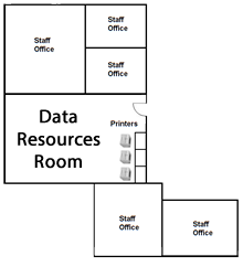 library data resources lab and staff offices