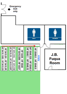 library restrooms, jb fuqua conference room