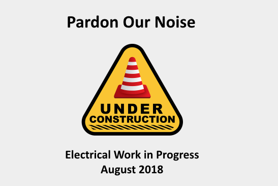 library renovations underway, expect intermittent noise in early august 2018