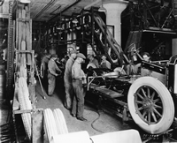 gm assembly line - image courtesy bentley library, univ. of michigan