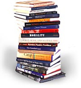 stack of books image courtesy of Dartmouth Univ.